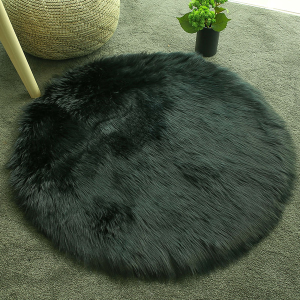 fluffy rugs multicolored bedroom luxurious carpet floor wool carpet circular 60x60cm home sofa decoration living room mat chair