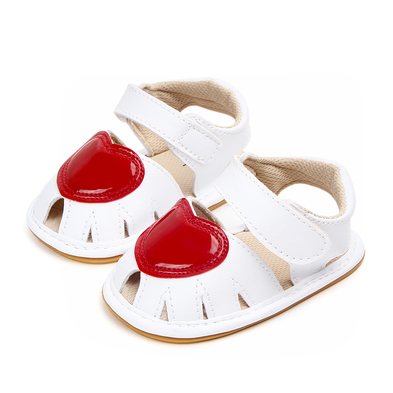 Baby / Toddler Girl Valentine Pretty Heart Decor Velcro Sandals (Various colors)