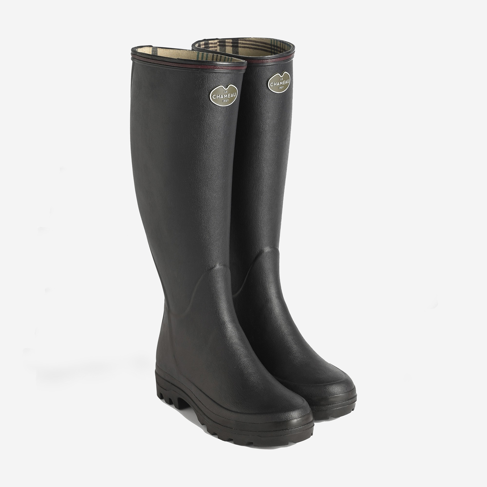 Le Chameau Giverny Ladies Wellington Boots (Black)-6