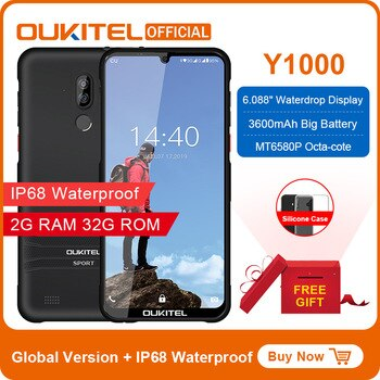 OUKITEL Y1000 Android 9.0 Mobile Phone 6.08