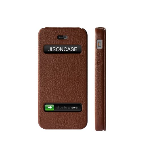 Jisoncase Flip Executive Case/Cover für das iPhone 5