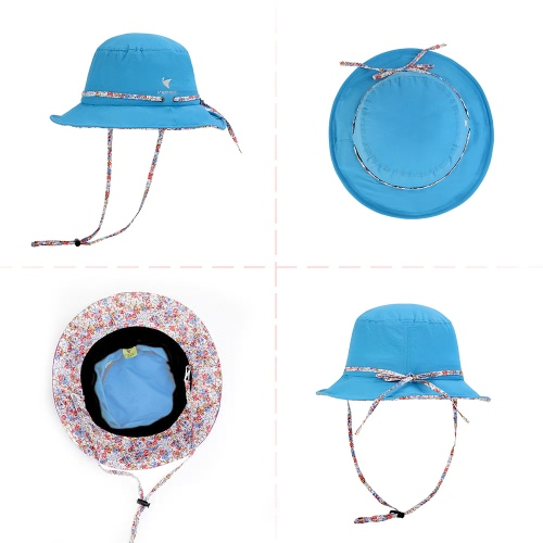 Women Girls Foldable Beach Cap UV Protection Summer Sun Hat Bucket Hat