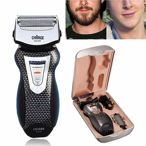 rechargeable electric razor reciprocating double head shaver men beard clipper facial trimmer shaving machine hair removal