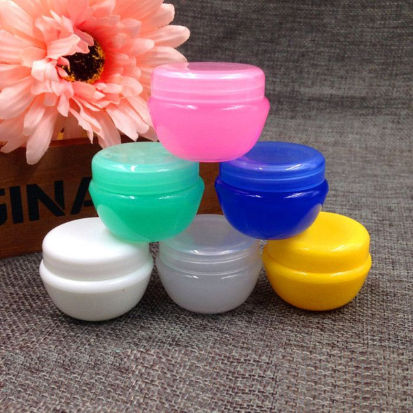 20g refillable empty plastic essence bottle color mushroom face cream jar cosmetic packaging containers 50pcs/lot hn03
