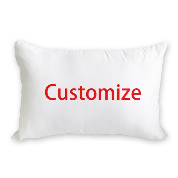 40x60cm custom heat transfer print long pillow case cover for room promotion