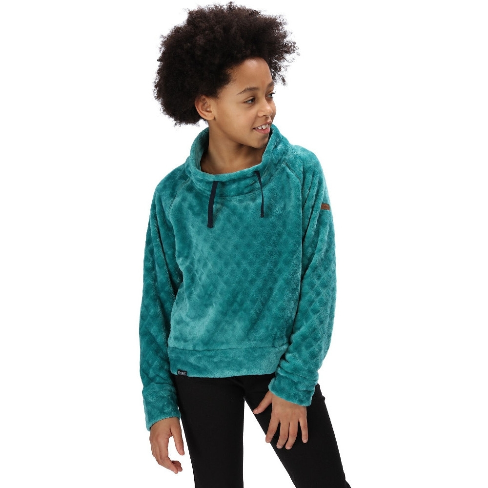 Regatta Boys Keera Two Tone Fluffy Walking Fleece Jacket 14 Years - Chest 83-86cm
