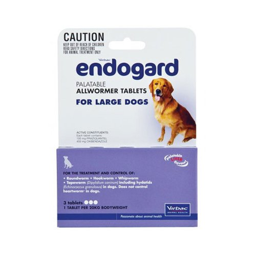 Endogard For Large Dogs 44 Lbs (20kg) 2 Tablet