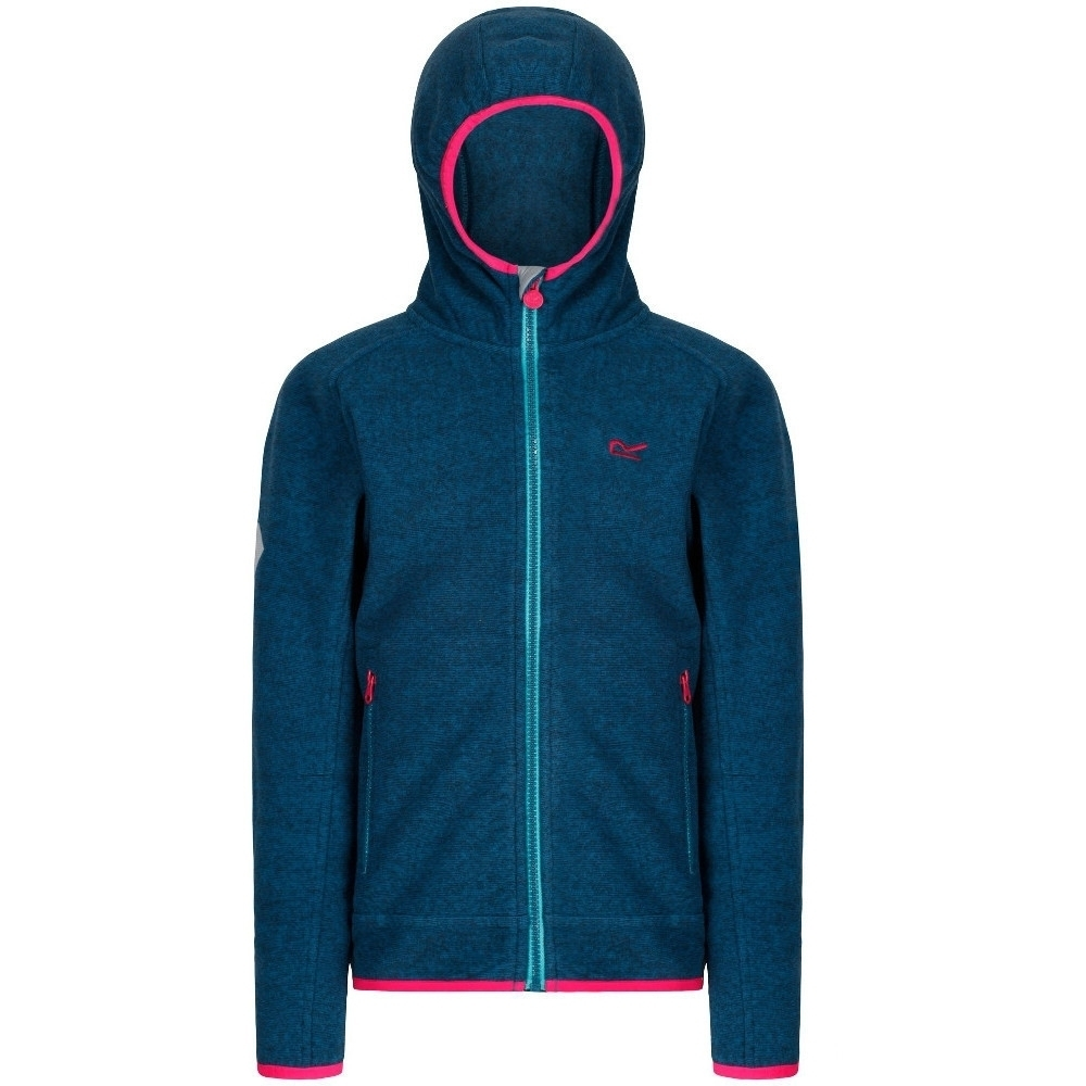 Regatta Boys & Girls Upflow II Polyester Hooded 2 Tone Walking Fleece 14 Years