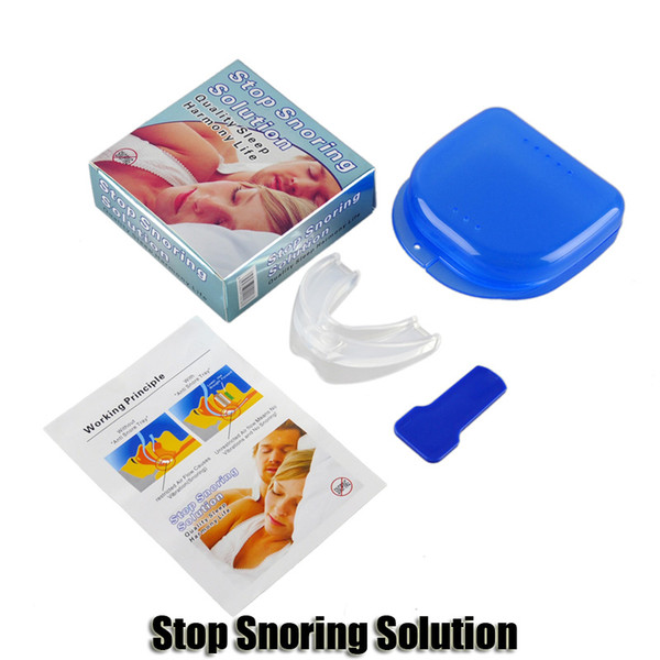 ssnoring solution anti snore mouthpiece soft silicone abs good night sleeping apnea guard bruxism tray snoring cessation