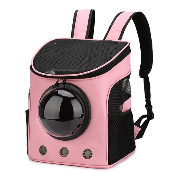 pet dog cat carrier bag pet puppy front bag double shoulder portable travel backpack mesh backpack with windows 0704#