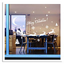 ZOOYOO Cute Colorful PVC Removable christmas carrige picture of  Wall Stickers Hot Selling Wall Decals For Home Decor