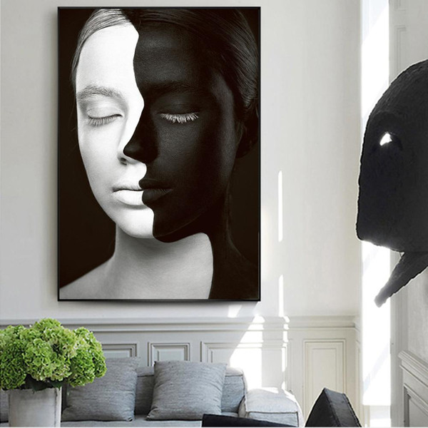 modern abstract girl art prints make up model canvas paintings on the wall posters and prints wall pictures home decor cuadros