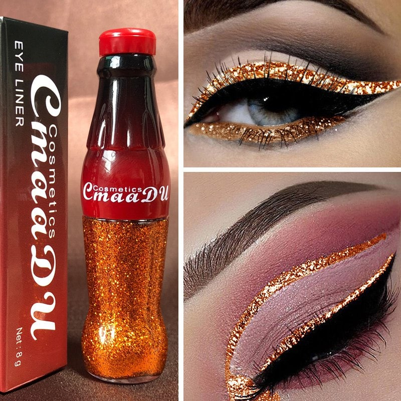 Cmaadu ME0054 Waterproof Lasting Colorful Flashing Glitter Powder Eyeliner