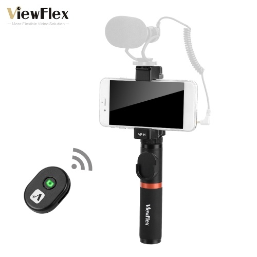 ViewFlex VF-H3 Smartphone Video Rig Hand Grip Handle Stabilizer Kit with Remote Control/ Hot Shoe Mount for iPhone X 8Plus 7 6s for Samsung Galaxy S8+ S8 Note 3 Huawei
