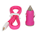 Pink 100cm Magnet Design Micro USB Cable  Bullet Shape Car Charger for Samsung Cell Phones