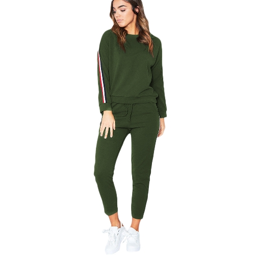 Women Sportswear Suit Casual Tracksuit Costumes 2 Piece Set Plus Size Autumn Winter Sweatshirt Clothing