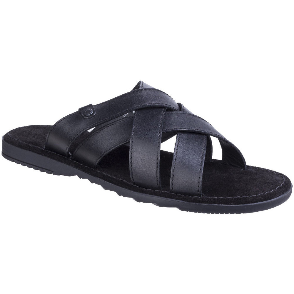 Base London Mens Apollo Waxy Leather Cross Strap Summer Sandals UK Size 8 (EU 42)