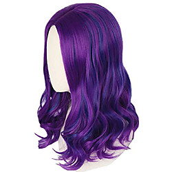 mal wig for girls kids purple and blue wig halloween fancy dress costume wig Lightinthebox