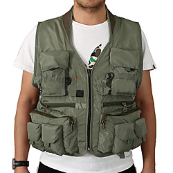 Men's Fishing Vest Vest / Gilet Quick Dry Breathability Camping / Hiking Hunting and Fishing Outdoor