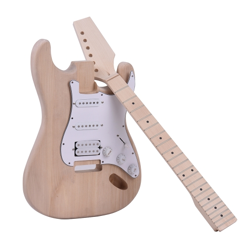 ammoon ST Style Unfinished DIY Electric Guitar Kit