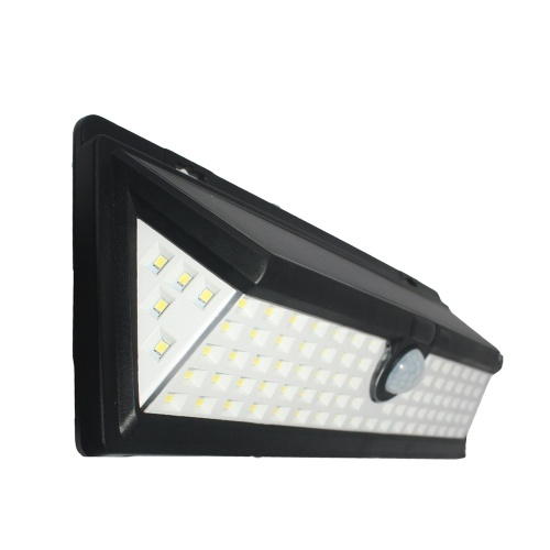 90 LEDs 8W Solar Powered Wall Lamp PIR Motion Wall Light