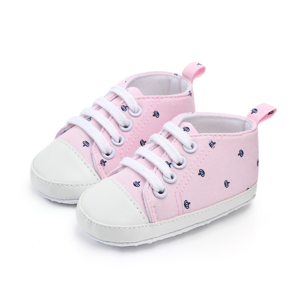 Baby / Toddler Trendy Crown Allover Soft Sole Canvas Shoes