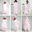 Cute Piggy Rosa Polar Fleece Kigurumi Pijamas Pijamas Cartoon Animal disfraz de Halloween