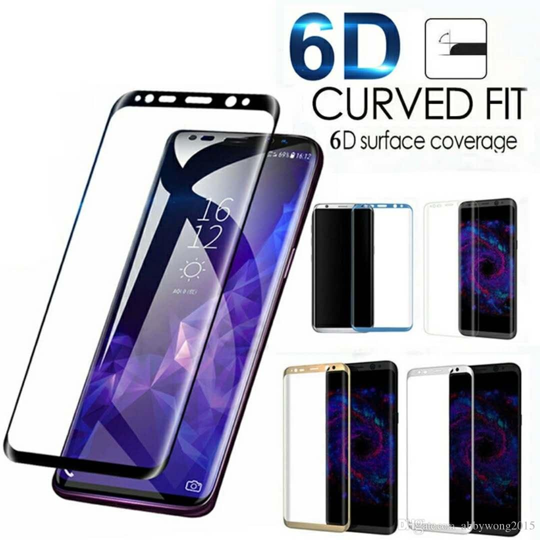 For Samsung Galaxy S10 S9 /S9 Plus 3D Curved Full Cover Tempered Glass Screen Protector For Samsung Galaxy S10 Plus Note 9 Protective film
