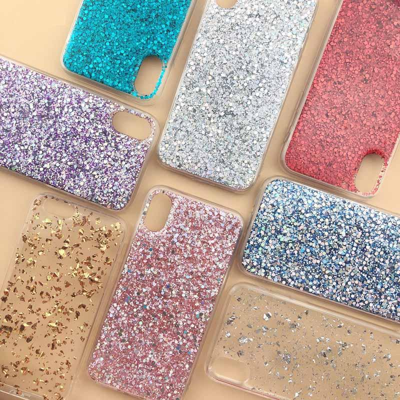 Colorful Sparkle Flake Foil Confetti Cover Bling Glitter Soft TPU Case For iphone 11 Pro Max XS Max XR 8 7 6S Plus