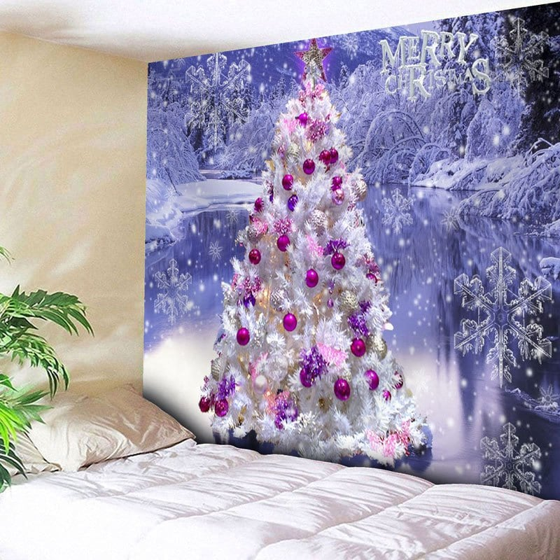 Christmas Tree Snowflake Wall Decor Tapestry
