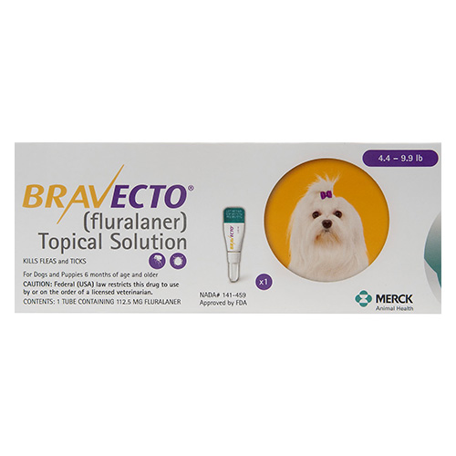 Bravecto Topical For X-Small Dogs (4.4 - 9.9 Lbs) Yellow 3 Doses