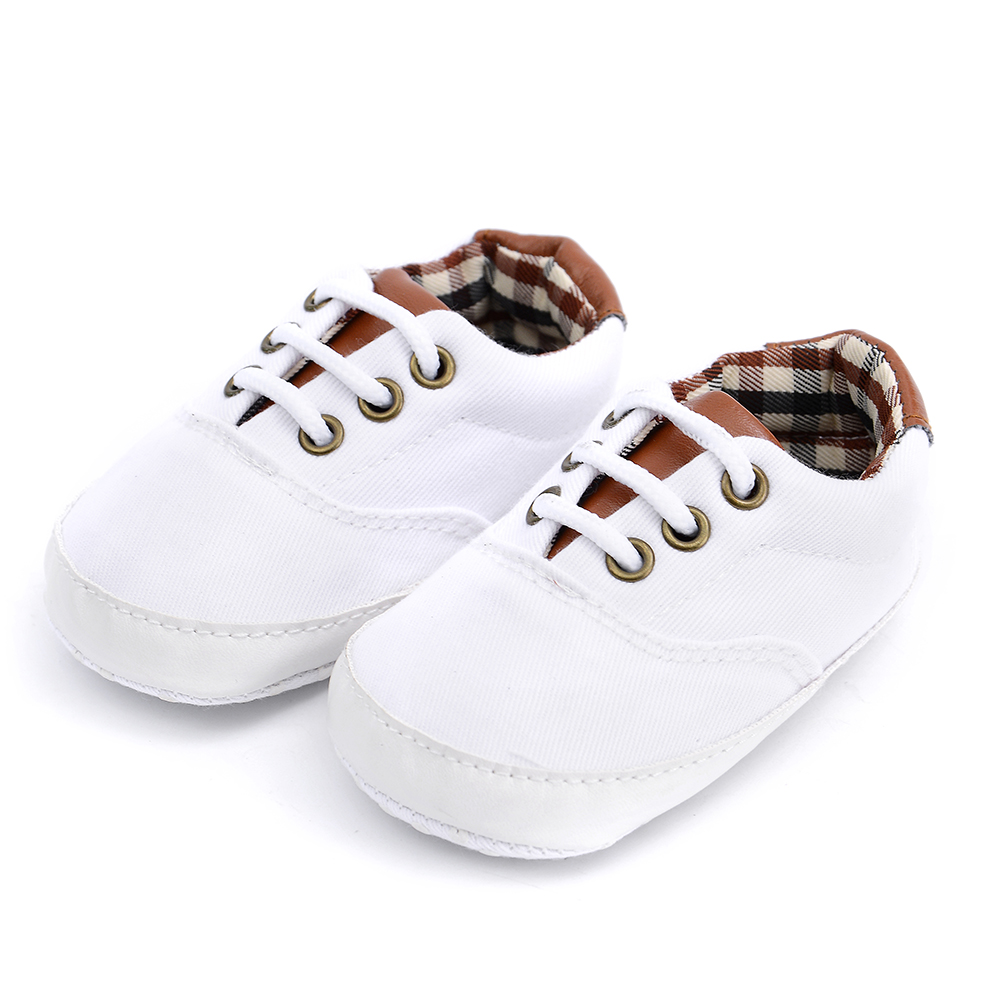 Baby / Toddler Trendy Plaid Solid Canvas Shoes