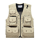 Leyou Sunmer Muti-porket Gridding Waistcoat Vest for Outdoor Photographer Director [XXXL]
