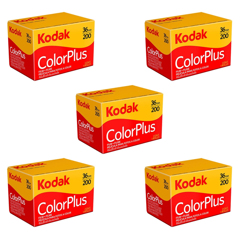 Kodak ColorPlus 200 ASA 35mm Colour Print Film 135-36 Exposure - Value 5 Pack