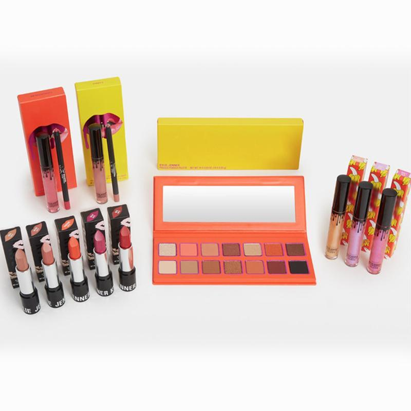 Newest Hot Brand makeup set The Summer Collection Matte lipstick Eyeshadow palette Lip Gloss Cosmetics Kit