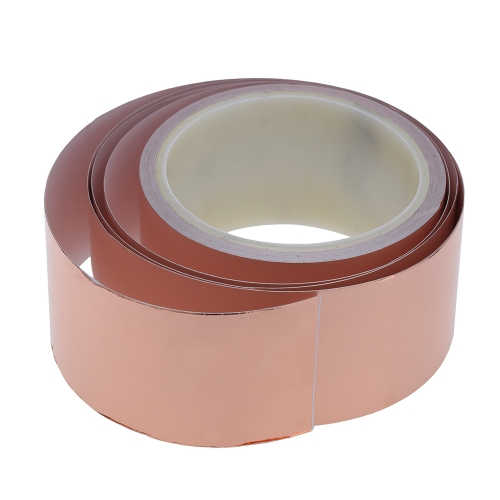 50mm * 10m One Side Copper Foil Tape EMI Shielding Single Conductive Adhesive for Guitar