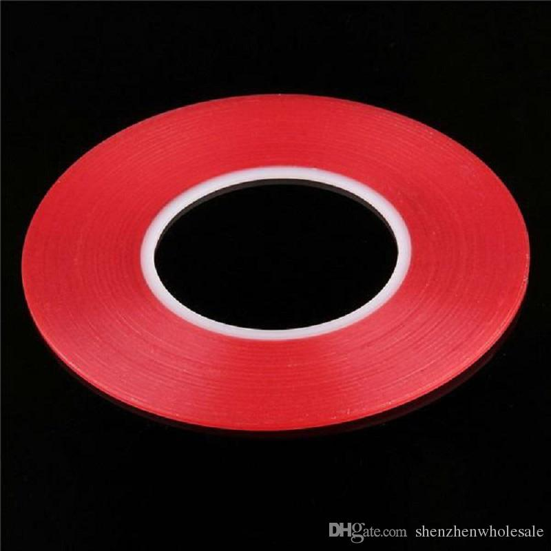 50pcs Transparent Clear Adhesive Transparent Double side Adhesive Tape Heat Resistant Universal cellphone repair sticker red