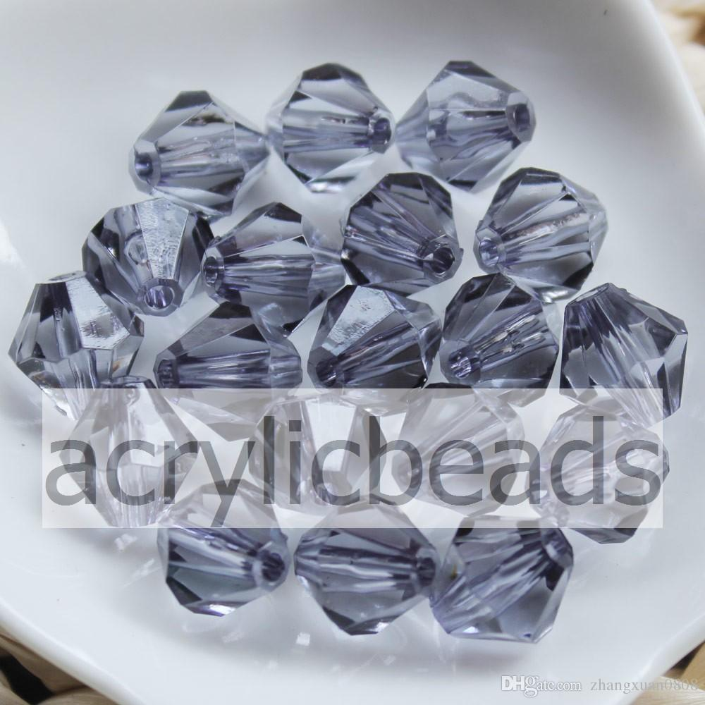 1000pcs/Lot Factory Price 4mm Clear Acrylic Bicone Beads Faceted Transparent Plastic Crystal Spacer Charms Jewelry Findings