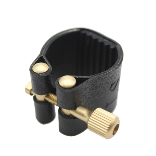 Ligature Fastener for Alto Sax Saxophone Rubber Mouthpiece Artificial Leather Compact Durable