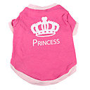 Princess Crown Pattern Cotton Pet T-Shirt for Dogs (Assorted Sizes)