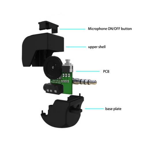 3.5mm Mini Handle Headset Adapter Earphone Controller for PS4 Controller VR with Microphone Earphone Volume Control