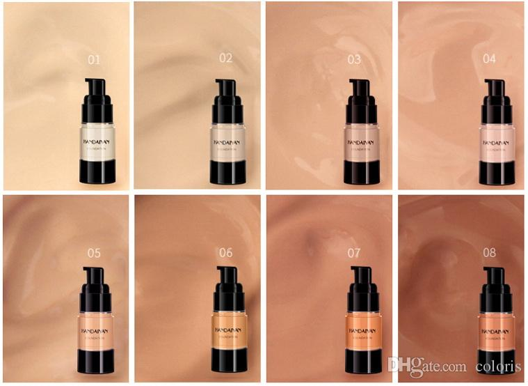 New Makeup Foundation 8 Colors Skin Evolution Liquid Foundation LongWear Brighten Face Natural Bronzers Foundation