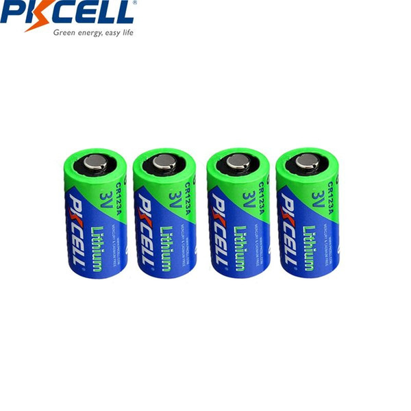 primary & dry batteries 4pcs pkcell 3v 123a 123a 1500mah lithium battery cell 123 cr17335 cr17345 16340 limno2 dry primary