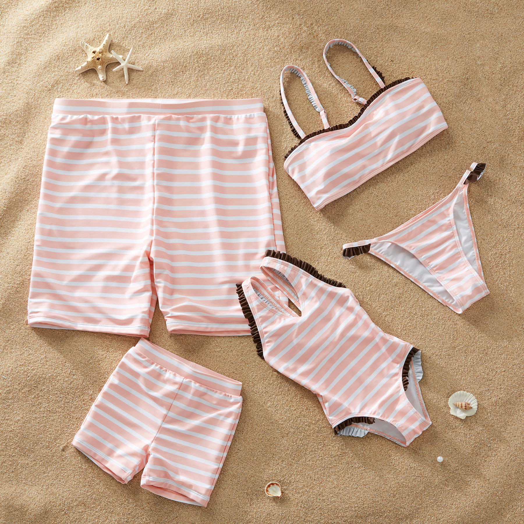 Strip 2-Piece Matching Swimsuit for Family