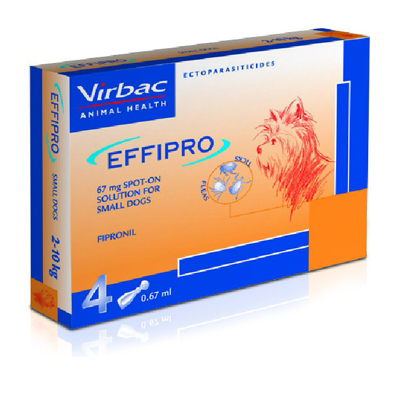 Effipro Spot-On Solution For Dogs Up To 22 Lbs 12 Pack