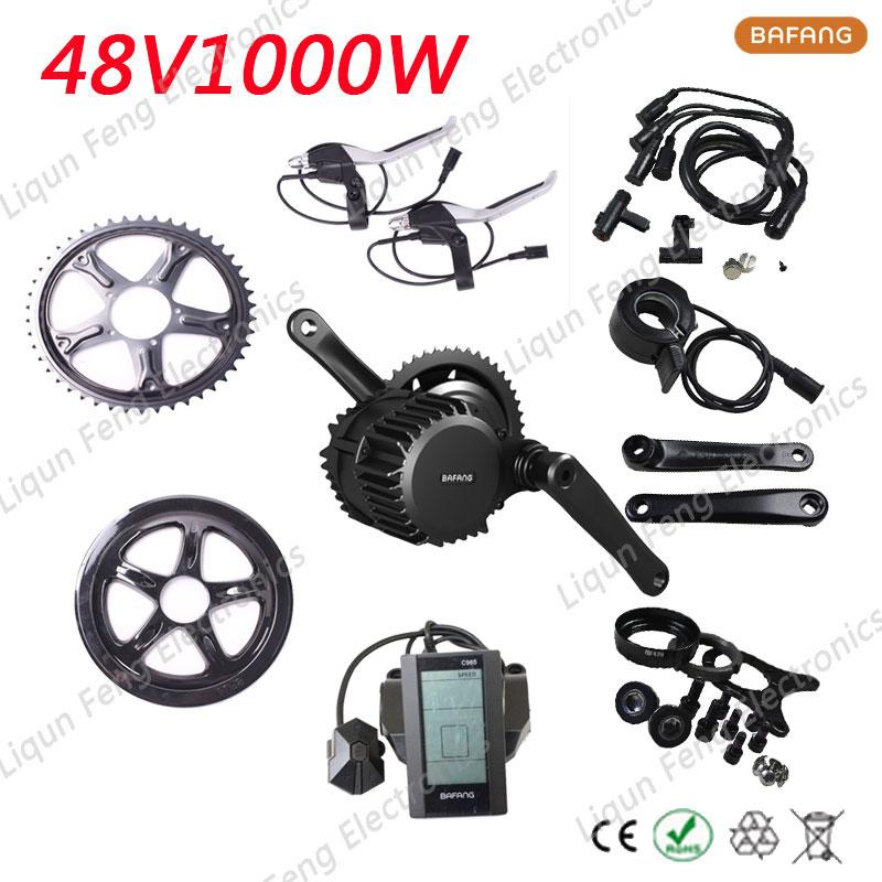 Free Shipping Electric bike kit 1000W 48V 8fun/bafang Motor Wheel BBSDH Octopus Neutral Motor Used for Electric Bicycle E-bike