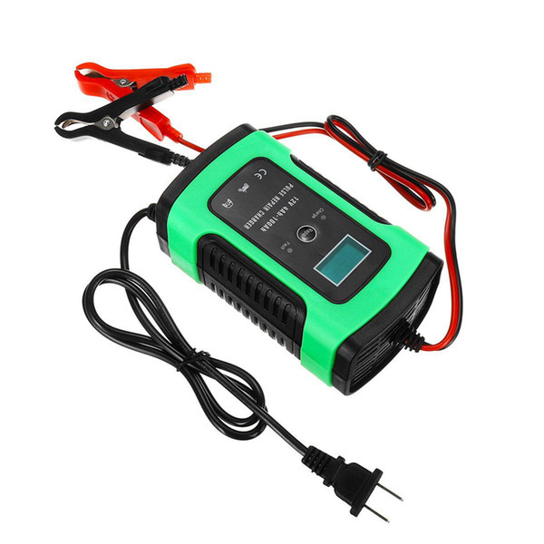 imars green 12v 6a pulse repair lcd battery charger for car motorcycle lead acid battery agm gel wet