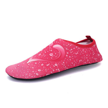 Big Size Canvas Wing Color Match Slip On Flat Swimming Yoga Shoes