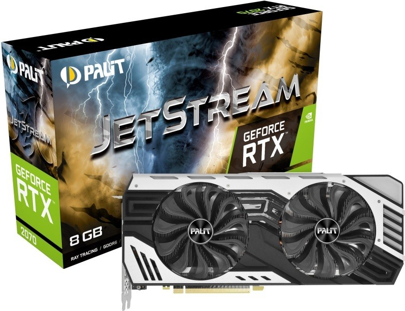 Palit GeForce RTX 2070 JetStream - Grafikkarten - GF RTX 2070 - 8GB GDDR6 - PCIe 3.0 x16 - HDMI, 3 x DisplayPort, USB-C (NE62070020P2-1061J)