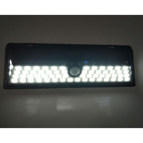 66 LEDs 8W Solar Powered Wall Lamp PIR Motion Wall Light